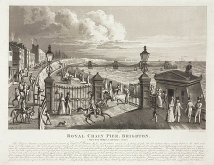 'Royal Chain Pier, Brighton', Susex, 1824.