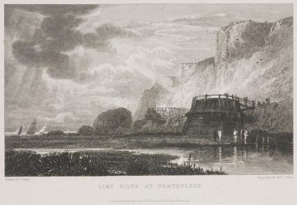 'Lime Kilns at Northfleet', Kent, 19th century.
