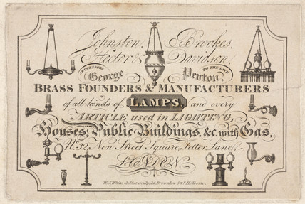 Trade card of Johnson, Brookes, Hector & Davidson, 19th century.