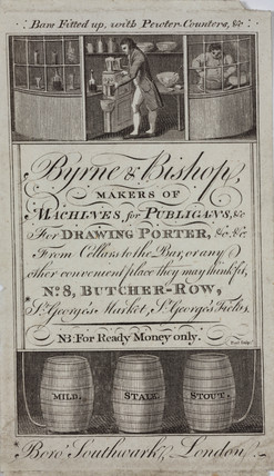 Trade card of Byrne & Bishop, manufacturers, early 19th century.