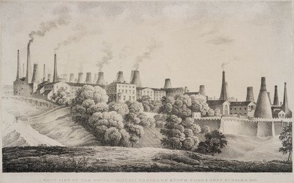 View of the House and Manufacturies of Enoch Wood & Sons, Burslem, 1833.