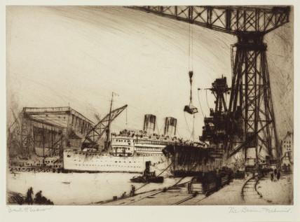'The Basin, Dalmuir', Glasgow, Scotland, c 1924.