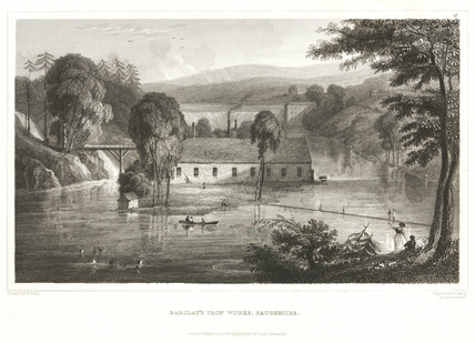 Barclays Iron Works, Saugerties, USA, 1831.