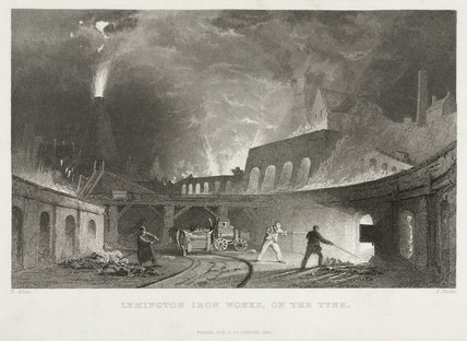 'Lymington Iron Works on the Tyne', 1835.