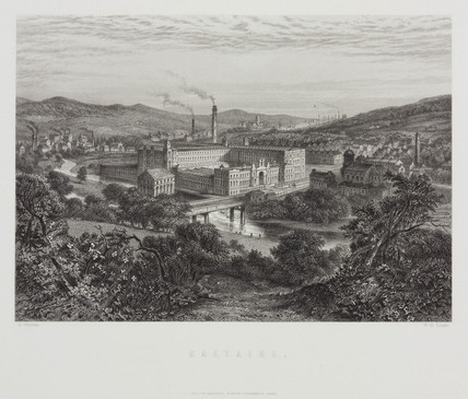 Salt's Textile Mill, Saltaire, West Yorkshire, 1869.