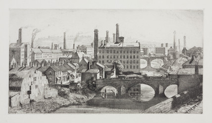 Industrial townscape, 1920s.