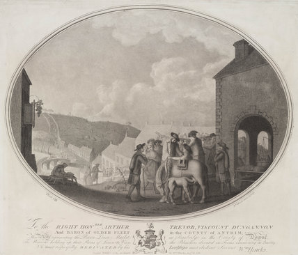 'Brown linen market, Banbridge' , 1783.