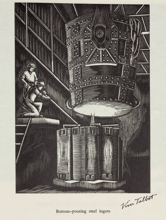 'Bottom pouring steel ingots', 20th century.