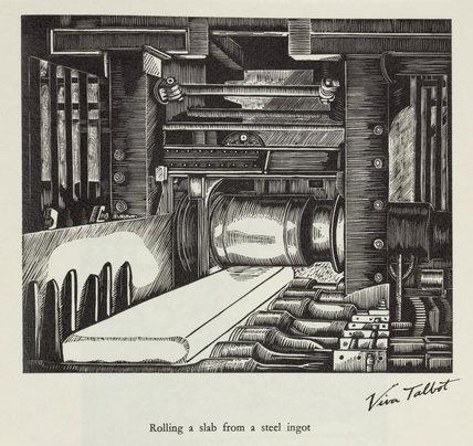 'Rolling a slab from a steel ingot', 20th century.