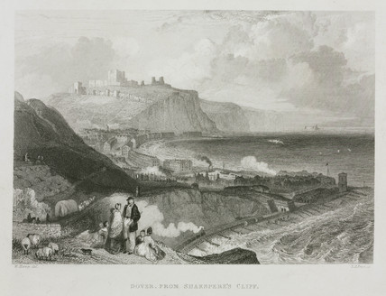 'Dover from Shakspere's Cliff', Kent, c 1860s.