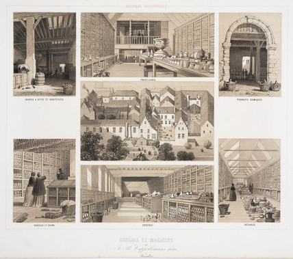 Offices and warehouses of J P Cappellemans, Brusels, 1830-1860.