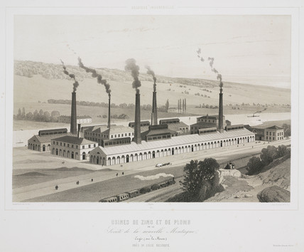 Zinc and lead factories, Engis, Belgium, 1830-1860.