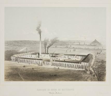 Sugar beet works and refinery at Waterloo, Belgium, 1830-1860.