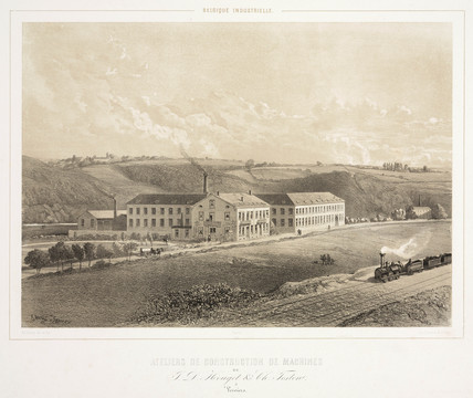 Machine workshops of J D Houget & C Teston, Verviers, Belgium, 1830-1860.
