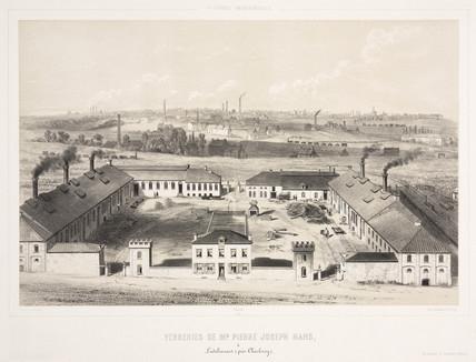 Glasworks of Pierre Joseph Hars, Lodelinsart, Belgium, 1830-1860.