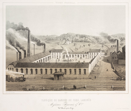Factory of Mesrs Simonis Company, Val Benoit, Belgium, 1830-1860.