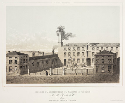 M Pirotte & Co machine workshops and foundry, Liege , Belgium, 1830-1860.