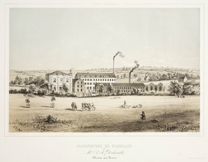 A J Deheselle's flannel factory, Thimister, Belgium, 1830-1860.