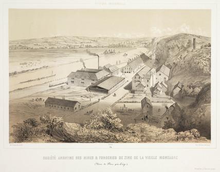 'Vielle Montagne Zinc Mine Foundry Co Ltd', Belgium, 1830-1860.