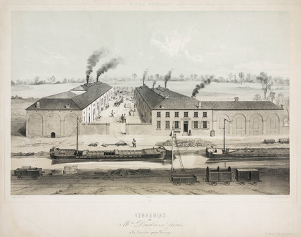 Daubrese brothers glasworks, La Louviere, Belgium, 1830-1860.