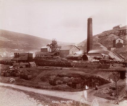 Gelli Colliery, Ystrad, Rhondda Cynon Taff, South Wales, 1890-1895.