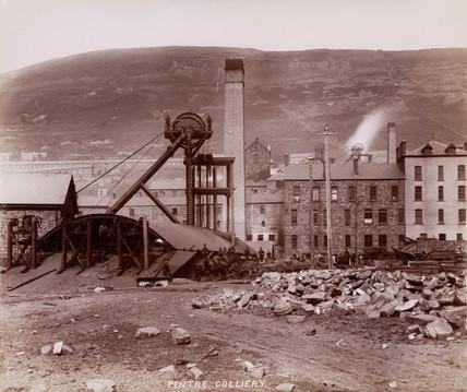 Pentre Colliery, Rhondda Cynon Taff, Wales, 1880-1895.