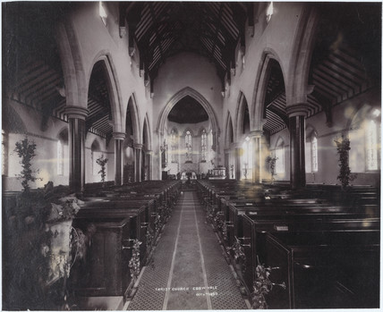 Church interior, Christchurch, Ebbw Vale, 4 October 1893.