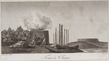 A lime kiln, China, late 18th century.
