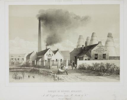 A majolica factory, Belgium, 1852.