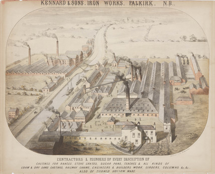 Kennard & Sons, Iron Works, Falkirk, Scotland, c 1855.