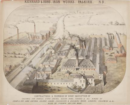 Kennard & Sons, Iron Works, Falkirk, Scotland, c 1855.