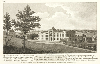 The Soho Manufactory, Birmingham, c 1800.
