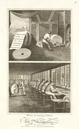 Heptinstall's File Manufactory, Birmingham, 1800.