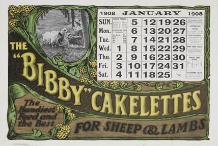 'Bibby' Cakelettes, calendar, 1908.