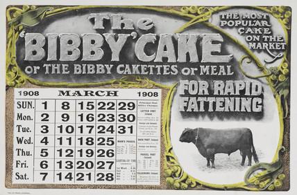 'The Bibby Cake', calendar, 1908.