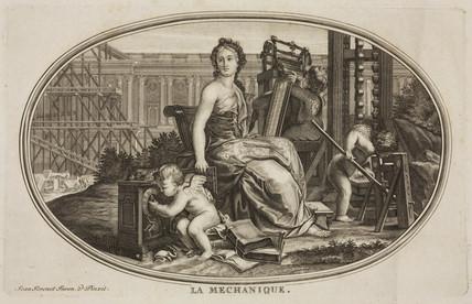 A female figure representing mechanics, c 1795.