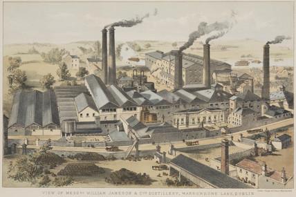 Distillery buildings of William Jameson & Co, Dublin, Irelend, c 1845.
