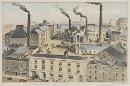Distillery buildings of John Power & Sons, Dublin, Ireland, c 1845.