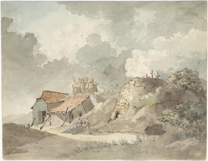 Lime kilns for firing bricks at Coalbrookdale, Shropshire, c 1790