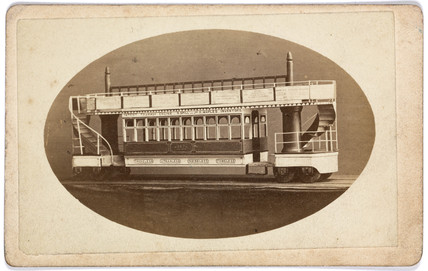A model of a tramway engine, 1873-1874.