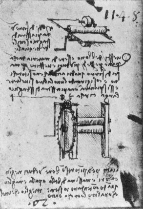 Da Vinci's design for Rolling-Mill with backing rolls, late 15th Century.