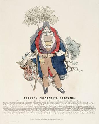 'Cholera Preventive Costume', March 1832.