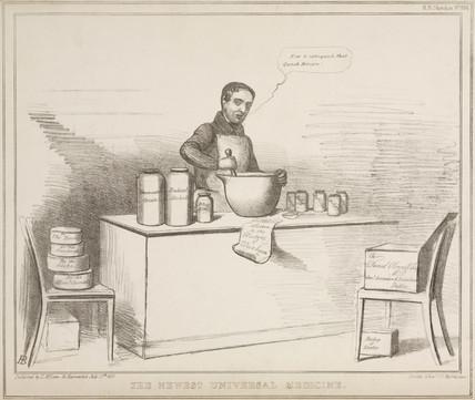 'The Newest Universal Medicine', 1830s.