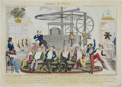 'Shaving by Steam', c 1810.