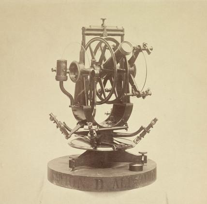 Transit of Venus portable altazimuth circle, 1876.