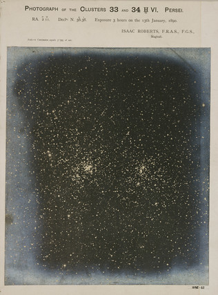 Double star cluster in the constallation of Perseus, 1890.