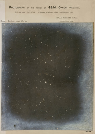 Praesepe, the beehive star cluster (M44), 1891.