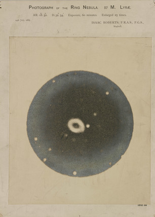 Ring Nebula in the constellation of Lyra (M57), 14 July 1887.
