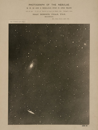 Twin galaxies in the constellation of Ursa Major, 31 March 1889.