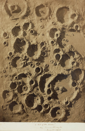 Photograph of lunar craters, 10 June 1858.